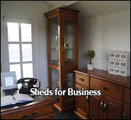 sheds for home business, beauty palor and home office