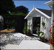 she shed shed for guest and wine parties