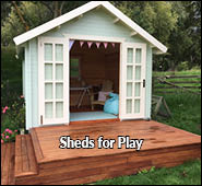 sheds for children, teenage space