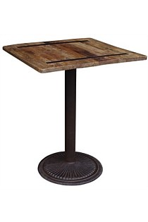 Cafe Style Elm Top Table - Bar Height