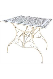 'Vintage Look' Square Cafe Table - Cream