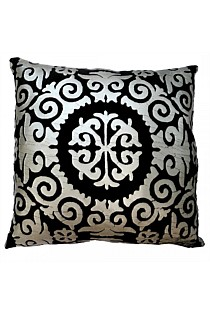 Bahati Cushion Black/Silver