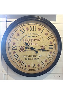 Old Town Rustic Clock