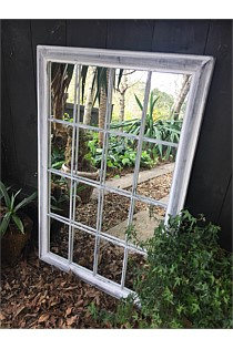 Antique White Outdoor Mirror