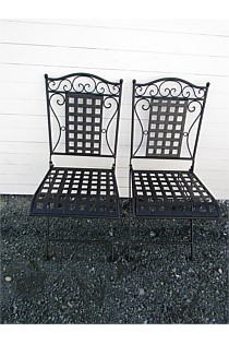 Black Folding Chairs - Set of 2