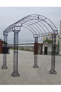 LARGE 4 POST METAL GAZEBO - CREAM ONLY