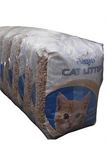 Pussydo Cat Litter 6 Litre Bag - Outer of 5