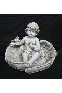 Angel Garden Statue Sitting in Wings