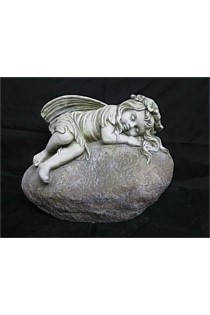 Sleeping Fairy on Rock Garden Statue