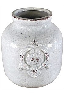 Ceramic Pot with French Monogram
