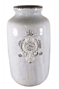 Ceramic Pot with French Monogram - Tall