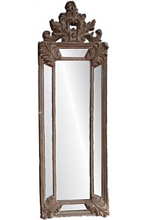 Tall French Ornate Mirror Antique Gold