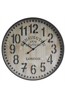 Old Town Metal / Wooden Wall Clock