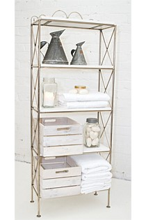 5 Tray Shelf Display – whitewashed