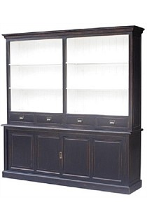 Black Bookcase Poplar / Black Wash