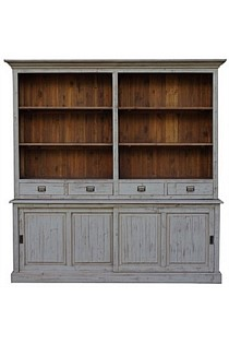 Buffet 4 Drawer & 2 Door Old Pine/Grey Wash