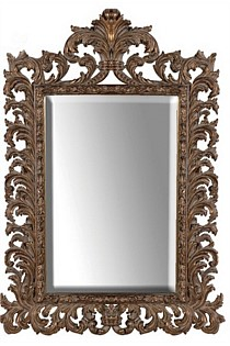 French Ornate Mirror Antique Gold