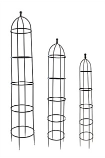 Set of 3 Trellis With Ball On Top