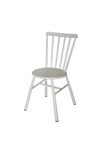 Retro White Outdoor Dining Chair