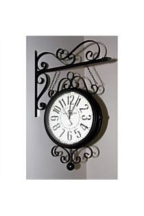 Double Sided Clock Station Black