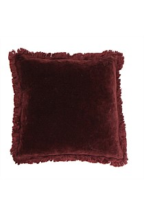 Boudoir Plum Fringed Cushion