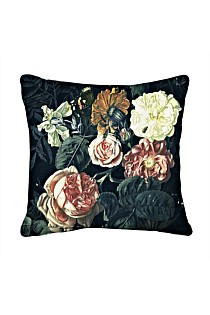 Blooming Blush Flower Square Cushion