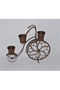Bicycle Plant Stand - Vintage Rust