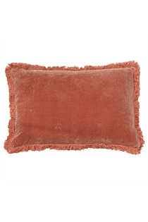 Boudoir Fringed Cushion - Blush OR Burnt Orange