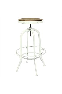 Bar/Workshop Stool - White or Black