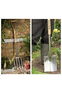 Set of two Large Digging Spade and Fork