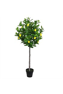 Artificial Potted Lemon Tree