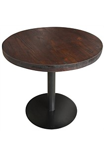 Elm cafe table round - elm