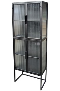 Art deco steel cabinet