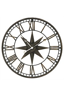Large Star Iron Wall Clock
