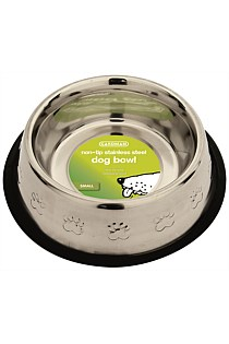 Stainless Steel Non Tip Dog Bowl - Large