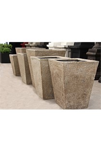 "Set of 3 Feature ""Concrete Look"" Planters - Small, Medium, Large"