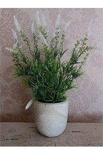 Artificial Lavender Plant with Small Stone Planter