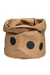 Brown Paper Wash Bag - Black Spot