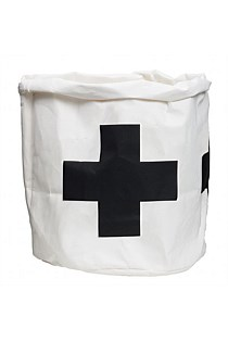 Wash Paper Bag Black Cross - Large