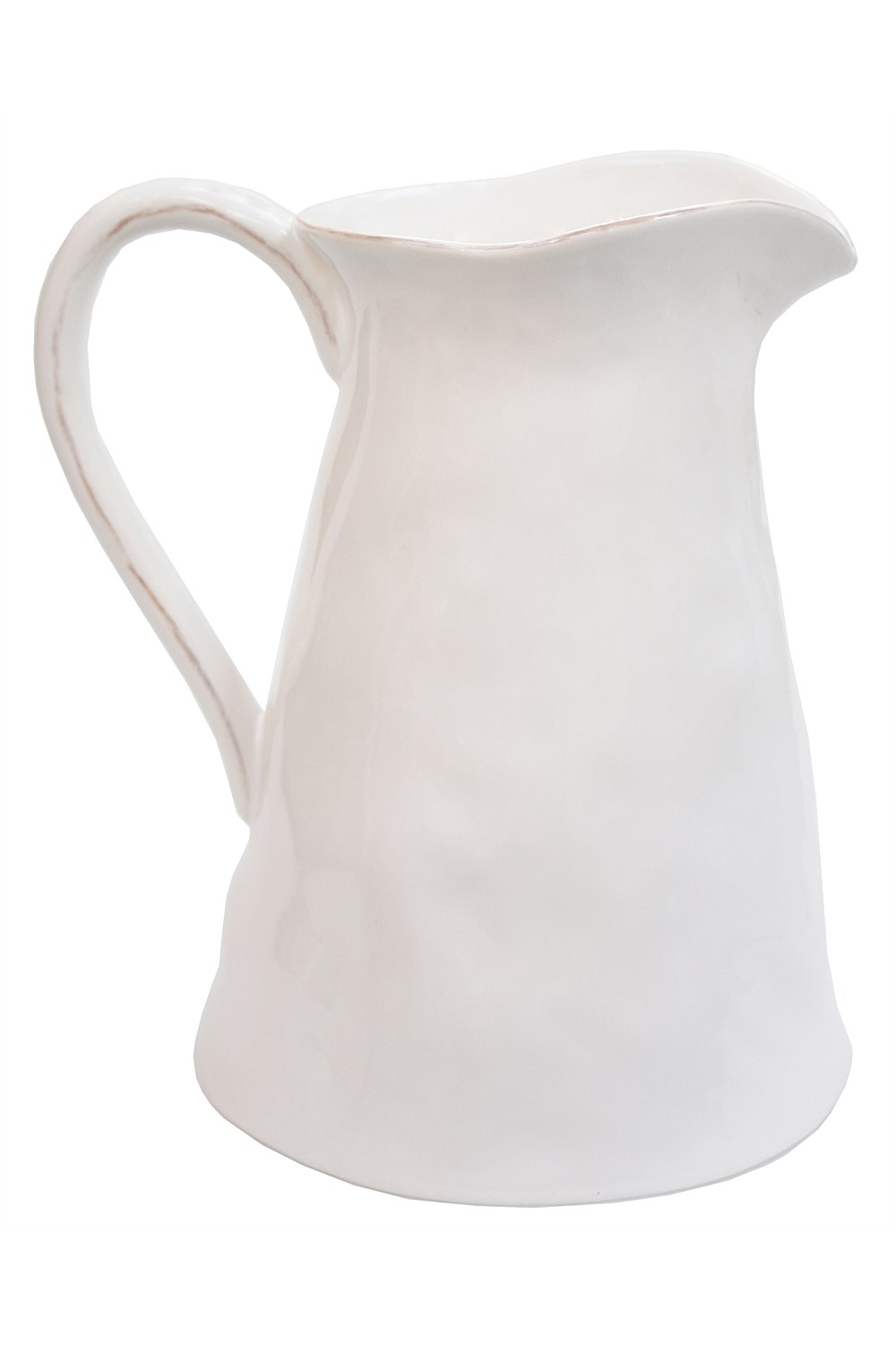 Large White Pitcher