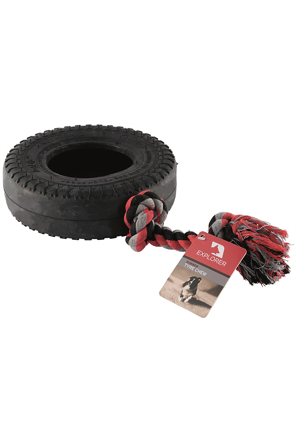 Rope Amp Rubber Tyre Chew Toy